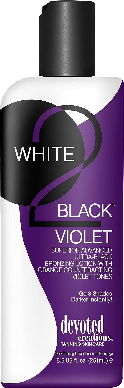 Devoted Creations WHITE 2 BLACK VIOLET Bronzer - 8.5 Black Limited price sale oz. Max 57% OFF