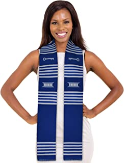 Make Your Own Custom Kente Stole (Key Royal Blue and White)