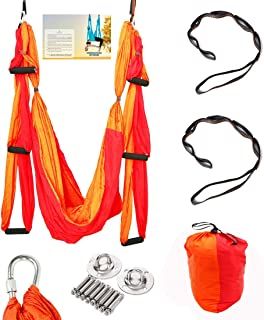 Geelife Aerial Yoga Hammock Set Yoga Swing Kit Trapeze for Yoga Antigravity Inversion Hanging Equipment