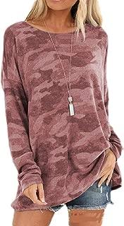 UUGYE Women's Top Long Sleeve Fashion Loose Camo Pullover Tee Shirts Blouse Top