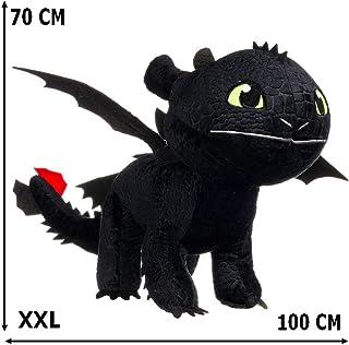 GUIZMAX Gigante Peluche Hada de los Dientes 70/100 cm Dragon 3 Negro