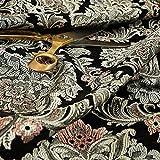 Reichhaltige Detail Damast exotischen schwarz grau