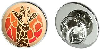 Giraffe Orange Circle Metal 0.75