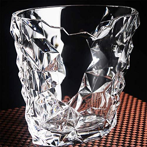 JUSTINZZ Eiskübel Für Bars/Glas- Eiskübel, Leicht Zu Tragen - Als Club Outdoor,Partys Für Wein Champagner Eiskübel,a Getränke-Schale/Kühler.