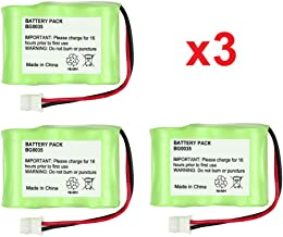 3 Fenzer Rechargeable Cordless Phone Batteries for Vtech CS5111-2 CS5121 CS5121-2 CS5121-3 Cordless Telephone Battery Replacement Packs