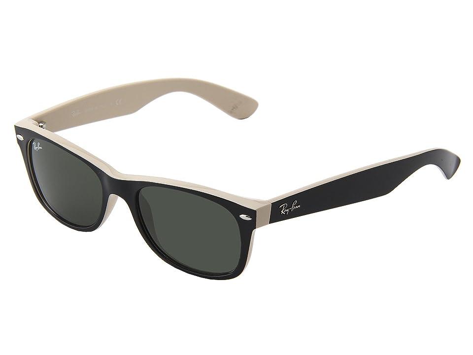 Ray-Ban RB2132 New Wayfarer 52mm (Black Tan) Sport Sunglasses