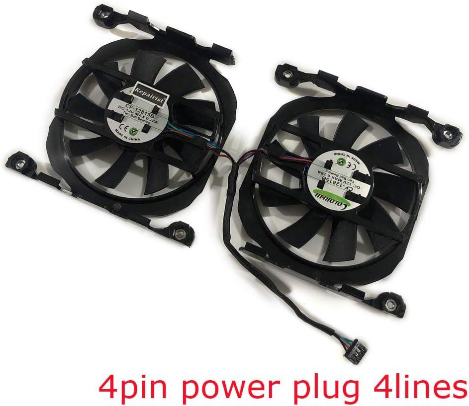 2pcs//set CF-12815B GPU VGA Cooler Graphics Fan For leadtek Winfast GTX 970 Hurricane ELSA GeForce RTX 2070 S.A.C Cards Cooling