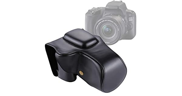 Color : Brown YANTAIANJANE Camera Accessories Full Body Camera PU Leather Case Bag with Strap for Canon EOS M10 Black