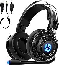 Fone de ouvido para jogos HP com microfone, para PS4, Xbox One, Nintendo Switch, PC, Mac, laptop, fones de ouvido supra-au...