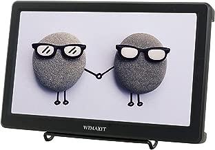 WIMAXIT Portable 10.1 inch Monitor, IPS Full HD HDMI VGA Built-in Dual Speakers VESA Bracket for DSLR Gaming PC, Camera, CCTV