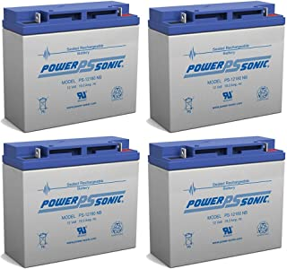 Power-Sonic 12V 18AH Battery Replaces E-Wheels EW-36 Mobility Scooter - 4 Pack