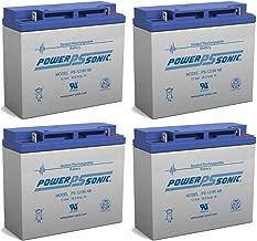 Powersonic 12V 18AH SLA Battery Replaces Liebert AP-130/AP23 3kVA UPS - 4 Pack