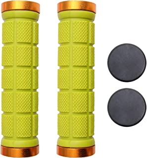 CLISPEED 2pcs Bike Grips Soft Rubber Non Slip Mountain Bicycle Handle Bar Grip Cover for Cycling Mountain Bicycles Accessories