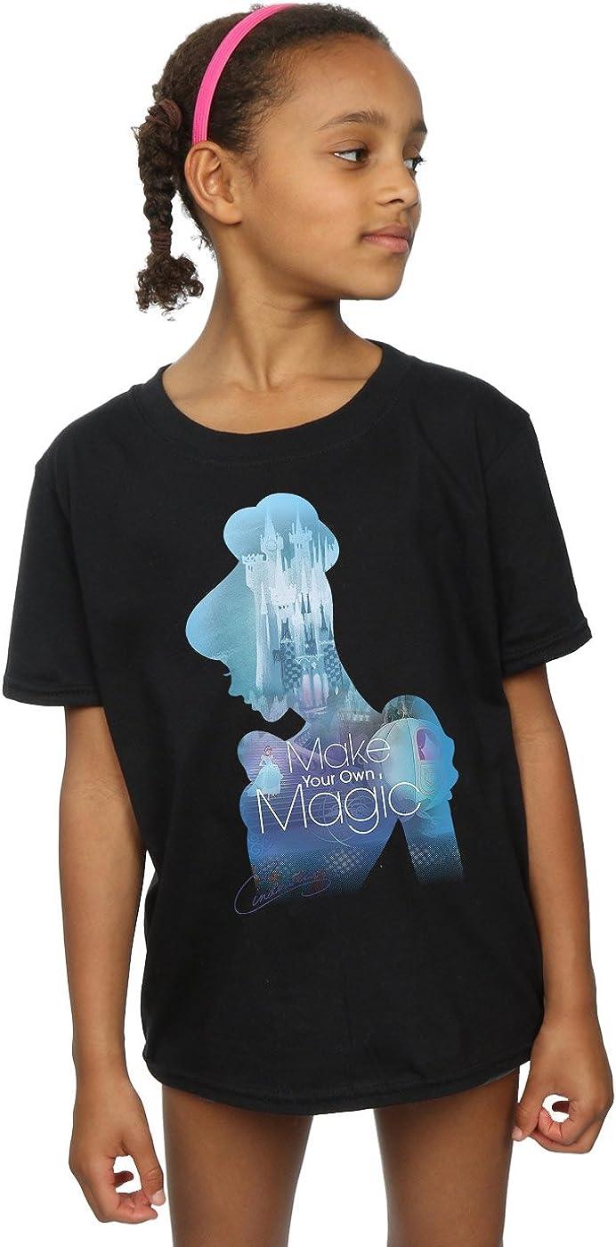 Disney Girls Princesses Cinderella Filled Silhouette T-Shirt
