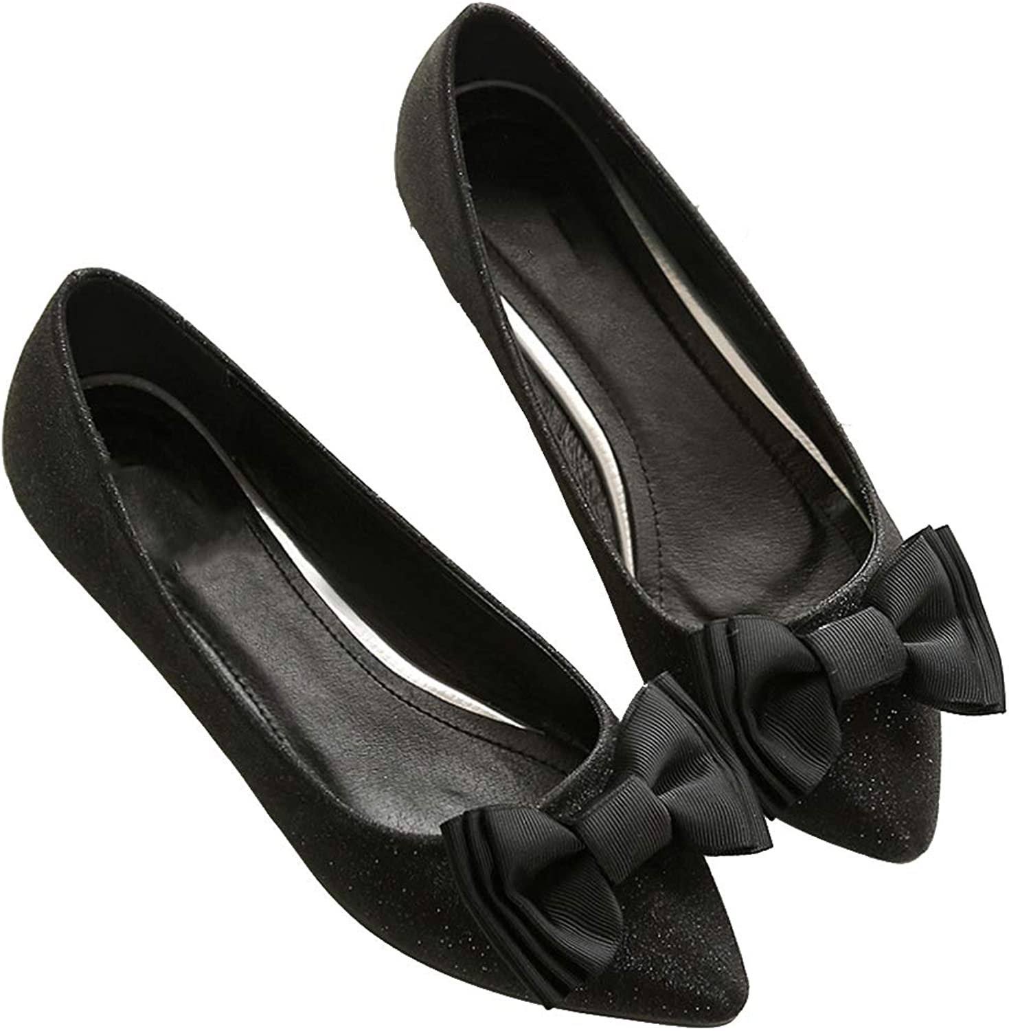 Kyle Walsh Pa Women Elegant Flats Pointed Toe Slip-on Bow Knot Design Female Party shoes
