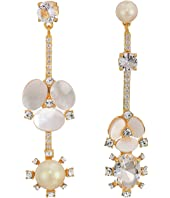 Kate Spade New York - Disco Pansy Statement Mismatch Earrings