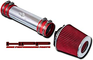 High Performance Parts Short Ram Air Intake Kit & Red Filter Combo Compatible for Nissan 02-06 Altima / 03-06 Murano 3.5L V6