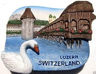 Chaple Bridge Water Tower Luzern Switzerland, High Quality Resin 3d Fridge Magnet