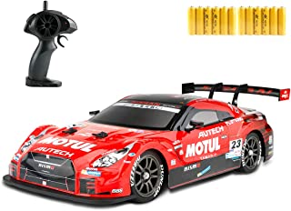 GT RC Sport Racing Drift Car Hight Speed Drift Vehicle 1/16 RC Car for Adults Kids Gifts, 4WD RTR Vehicle with 12 Battery ...