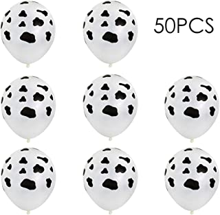 Sc0nni 50PCS Funny Cow Print Balloons For Children's Party