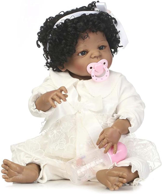 Terabithia 22-Zoll-lebensechte African-American Wiedergeboren Baby Puppe,Neugeborene schwarz Mädchen Puppe Crafted in Silikon Vinyl Ganzkörper B07BFMXL6Y Vielfalt    Marke