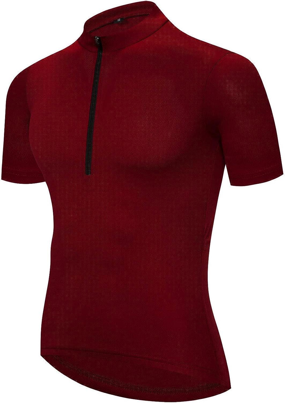 Men's Cycling Jersey Pure Color Bike Summer OFFicial Sleeve Popular standard Breatha Short