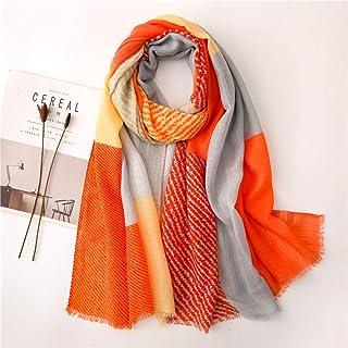 Schal Damen Cotton Leinen Vielseitige Seidenschals Bedruckter Schal Damenmode Kopftuch Decke Poncho