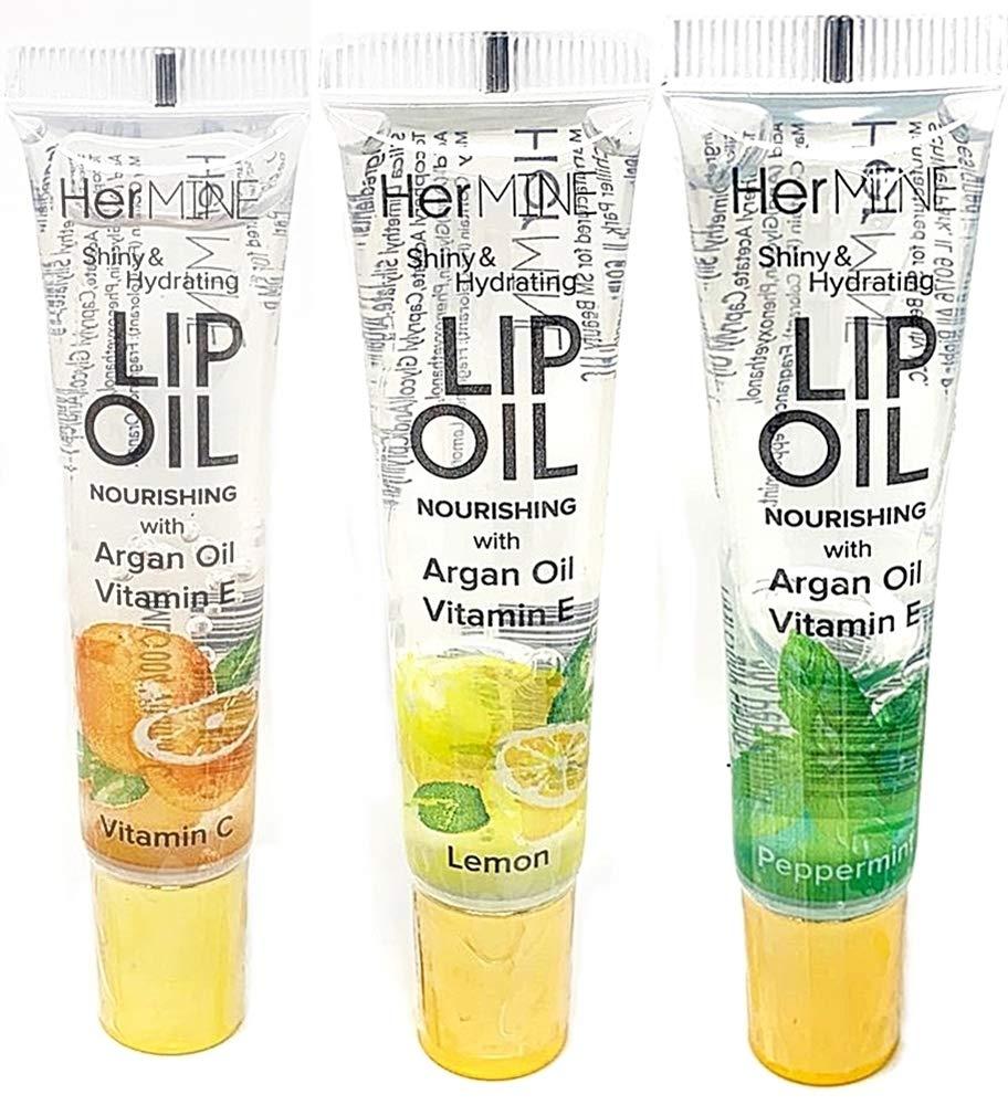 CRISPY BEAUTY HERMINE CLEAR LIP OIL National products VITA-LEM-MINT quality assurance 3PCS GLOSS