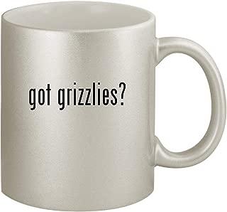 got grizzlies? - Ceramic 11oz Silver Coffee Mug, Silver