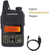 Baofeng Mini Two Way Radio BF-T1 Walkie Talkie UHF 400-470mhz 20CH Portable Ham FM CB Radio Handheld Transceiver+Programming Cable