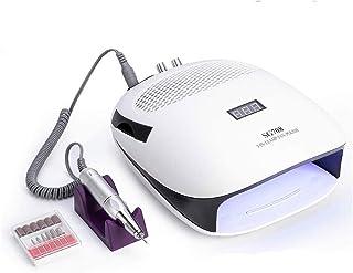 MTFZD Taladro de Uñas Máquina de Manicura Colector de Polvo de Succión de Uñas Lámpara UV para Uñas (Color : White)
