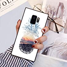 Square Pineapple Samsung Galaxy S9 Case, JQLOVE All-Inclusive Full-Body Shockproof Protective Phone Cover, Case for Samsung Galaxy S9 Pineapple