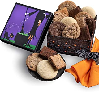 Halloween Gift Basket - Witch's Kitchen Baked Goods Gift - Cookies and Brownies Chocolate Gift, Kosher Gift, Halloween Gifts for Kids and Adults