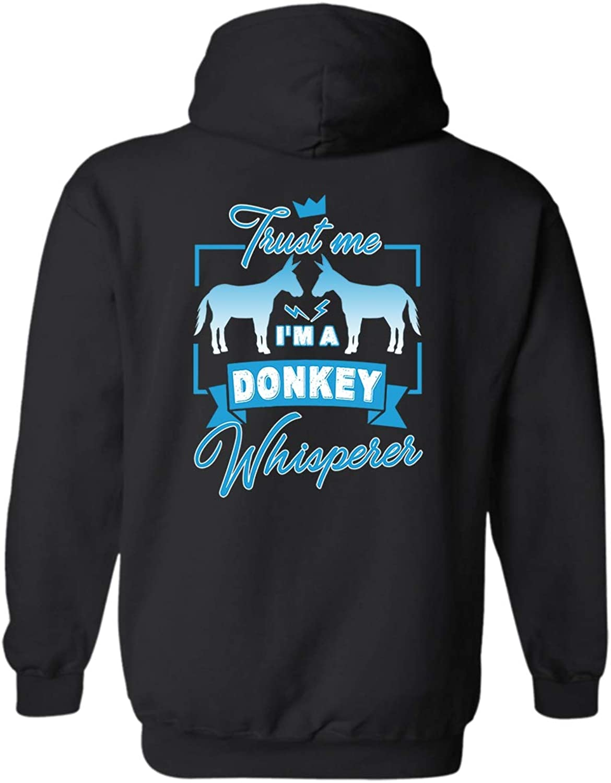 LightPink Donkey Whisperer Hoodies, Cool Hooded Sweatshirt
