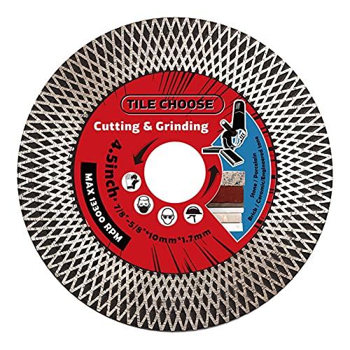 Discos de corte de hoja de sierra de diamante, cuchilla de azulejo de 115 mm Diamante Turbo Turbo Sierra de diamante Hojas para molinillo de ángulo Tiles de porcelana de corte de granito Cerámica de m