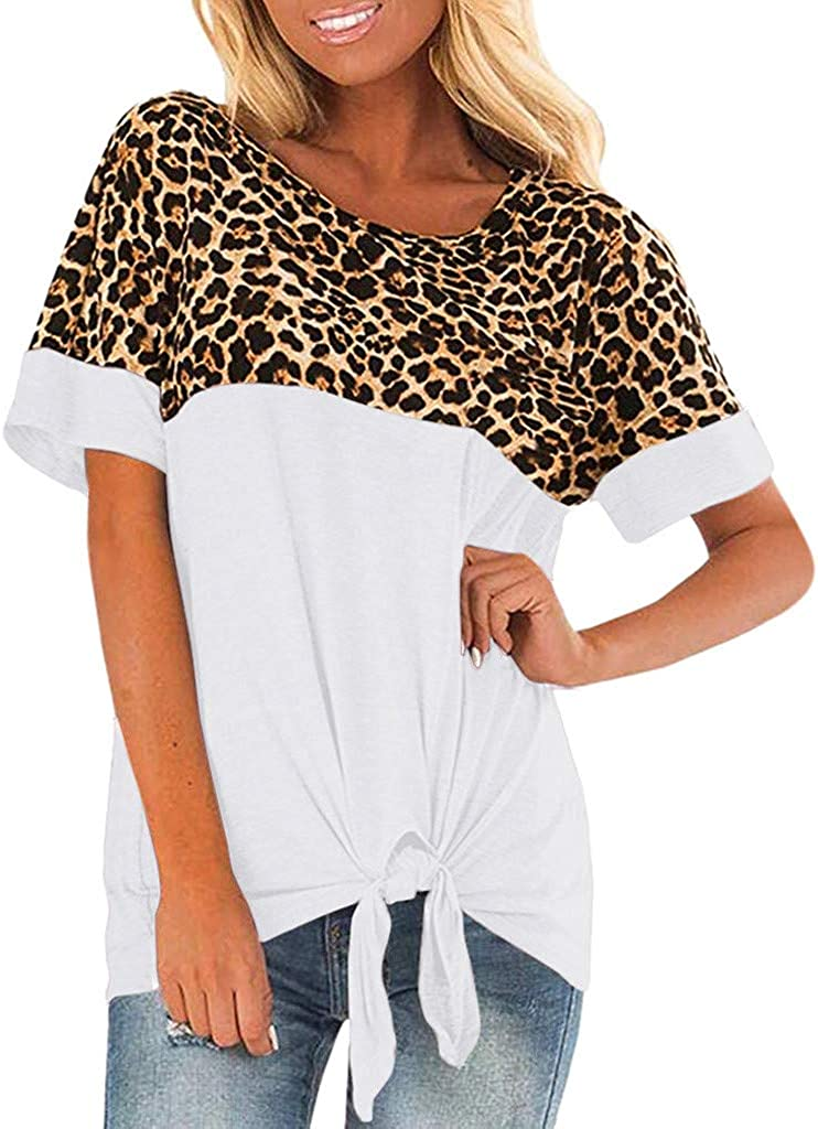 ZANZEA Womens Summer Top Tee Shirt Loose Baggy Pullover Tie Bow Floral Blouse
