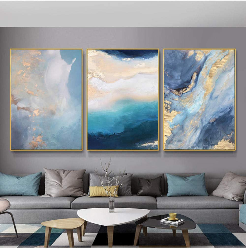 Modern Abstract Blue Marble Posters Canvas Prints Dealing Popular overseas full price reduction Wall Painting