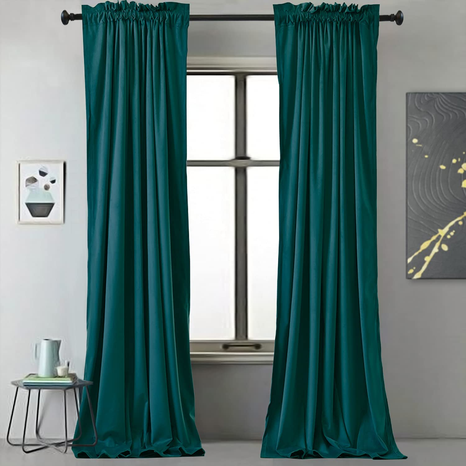 Velvet Curtains Indianapolis Mall by Outstanding BDRS HOME Blackout in 84 for
