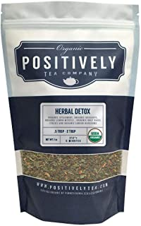 Positively Tea Company, Organic Herbal Detox, Herbal Tea, Loose Leaf, 16 oz. Bag