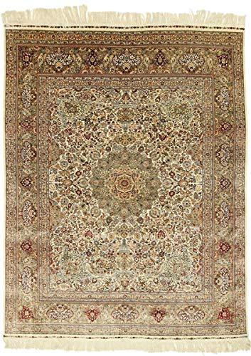 Nain Trading Herike Seidenkette 305x244 Orientteppich Teppich Beige/Dunkelbraun Handgeknüpft China
