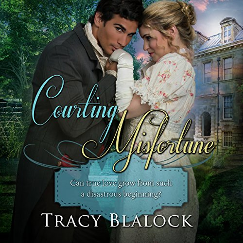 Courting Misfortune audiobook cover art