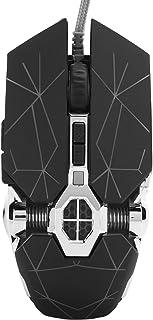 Goshyda Ratón para Juegos con Cable, 4000DPI Luz de respiración Colorida Teclas de Ajuste de dpi Dobles Ratón de diseño er...