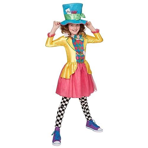 Mad Hatter Girls Fancy Dress Tea Party Book Day Alice in Wonderland Costume  New (11 73b8ebb1c9e2