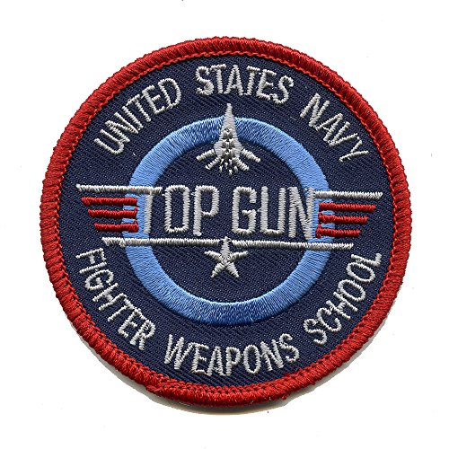 65 mm USA TOP GUN Navy Fighter Weapons School US Patch Aufnäher Aufbügler 0502 B