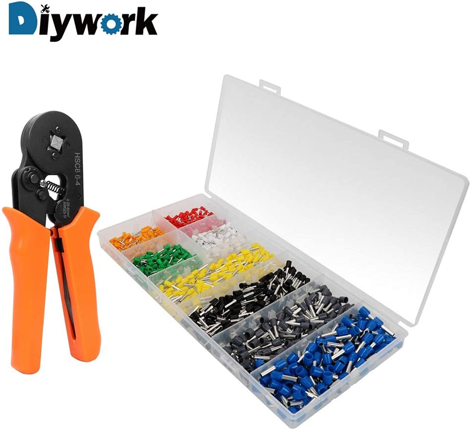 DIYWORK 800 Pcs Connector Terminal Multi Hand Tools Hand Crimping Tools Crimp Terminal Crimping Pliers Self-Adjustable