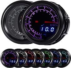 HOTSYSTEM 7 Color Pyrometer Exhaust Gas Temperature EGT Gauge Kit 300 to 1300 Celsius Pointer & LED Digital Readouts 2-1/16