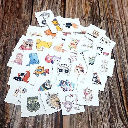 35pcs Cute Cartoon Animals Waterproof Stickers Laptop Phone Stickers DIY Diary Scrapbooking Stationery Stickers School Supplies