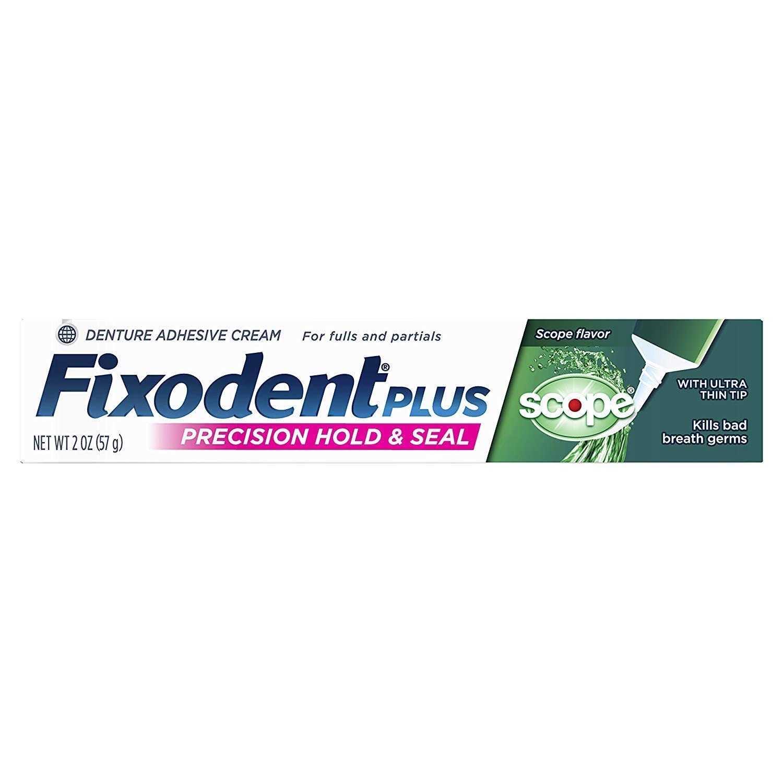 Fixodent Control Denture Adhesive Cream Plus Scope Flavor 2 oz (Pack of 5)