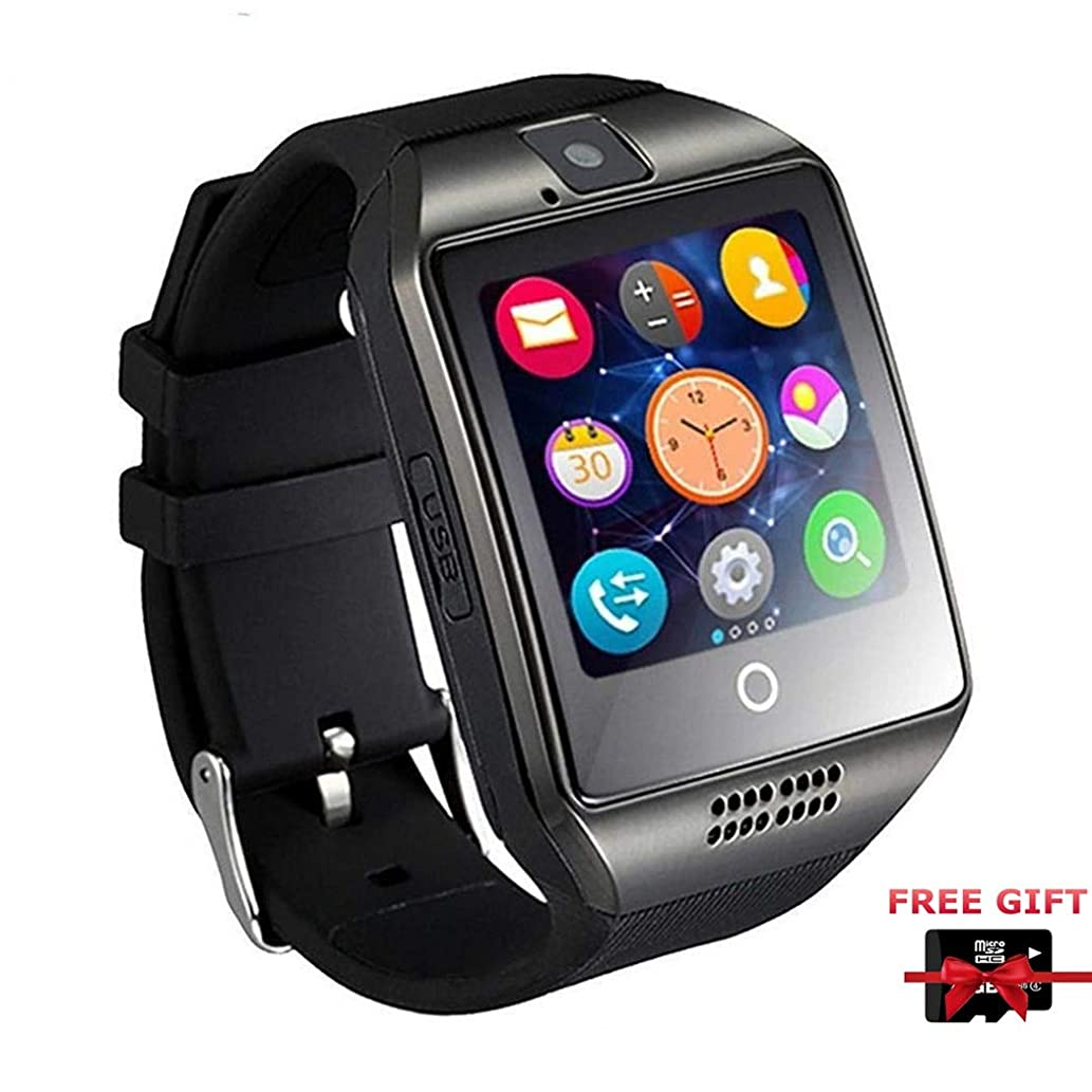 Smart Watch Phone, Smartwatch with Camera TF Card Pedometer SIM Card Slot Music Player Compatible for iOS iPhone (Partial Functions) and Android Phone Samsung HTC Sony LG Huawei for Men Women Kids