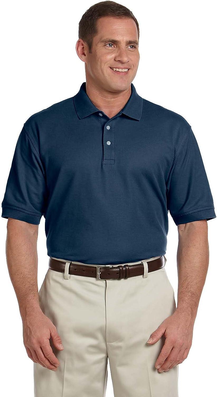 Devon & Jones Men's Tall Pima Pique Polo Shirt, Navy, XX-Large Tall